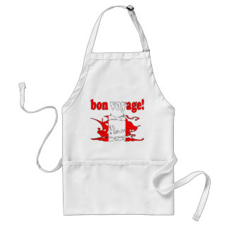 Bon Voyage - Good Trip in Canadian -  Vacations Adult Apron