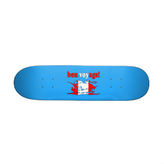 Bon Voyage - Good Trip in Canadian -  Vacations Skateboard Deck