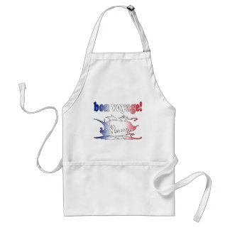 Bon Voyage Good Trip in French Vacations Travel Adult Apron