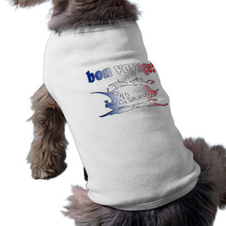 Bon Voyage Good Trip in French Vacations Travel Dog Clothes