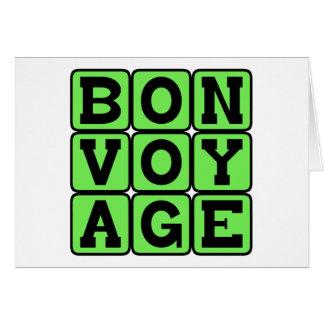Bon Voyage, Have A Good Trip Cards
