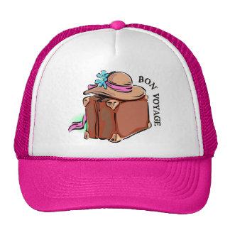 Bon Voyage, have a good trip! Luggage & hat