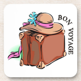 Bon Voyage, have a good trip! Luggage & hat Coaster
