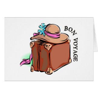 Bon Voyage, have a good trip! Luggage & hat Greeting Card