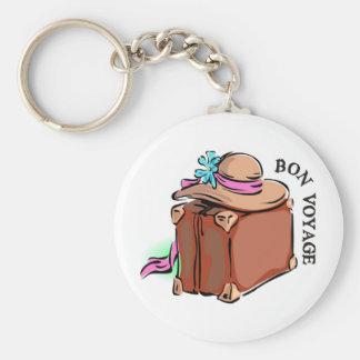 Bon Voyage, have a good trip! Luggage & hat Keychain