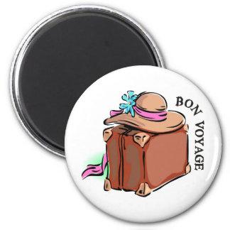 Bon Voyage, have a good trip! Luggage & hat Magnet
