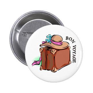 Bon Voyage, have a good trip! Luggage & hat Pinback Button