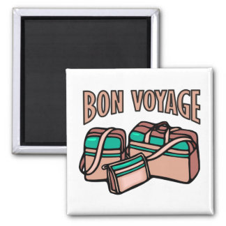 Bon Voyage, have a good trip! Luggage & suitcases Magnet