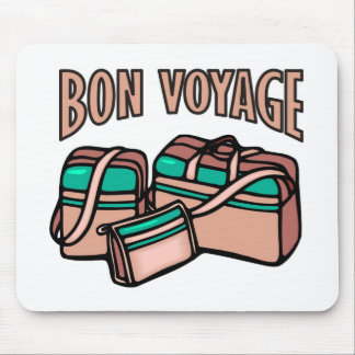 Bon Voyage, have a good trip! Luggage & suitcases Mouse Pad