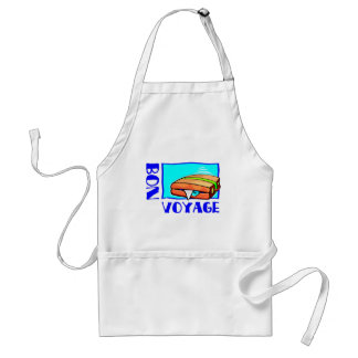 Bon Voyage, have a good trip! Travel safe! Adult Apron