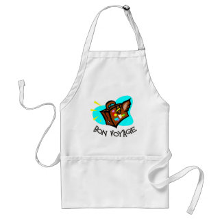 Bon Voyage, have a good trip! Winged suitcase Adult Apron
