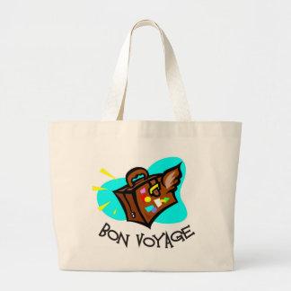 Bon Voyage, have a good trip! Winged suitcase Canvas Bag