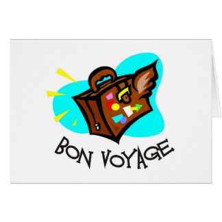 Bon Voyage, have a good trip! Winged suitcase Cards