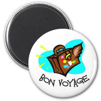 Bon Voyage, have a good trip! Winged suitcase Fridge Magnet