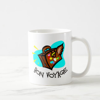 Bon Voyage, have a good trip! Winged suitcase Coffee Mug