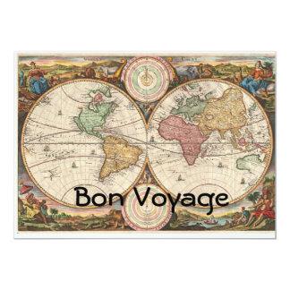Bon Voyage 5x7 Paper Invitation Card