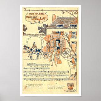 Bon Voyage Monsieur Dumollet old music score Poster