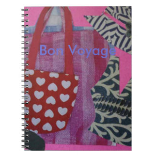 Bon Voyage notebook for shopping or travelling
