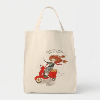 Bon Voyage  Organic Grocery Bag
