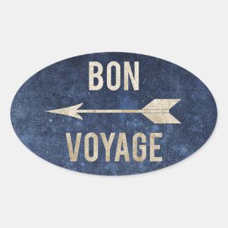Bon Voyage Oval Sticker