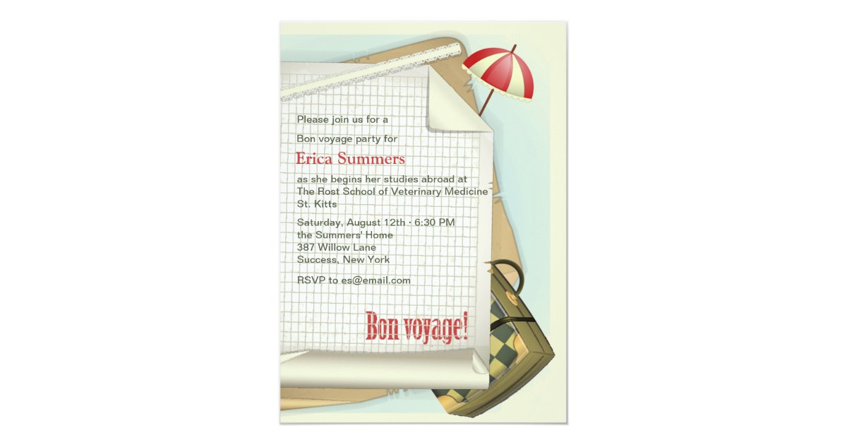 elegant bon voyage party invitation or 68 bon voyage party invitation template