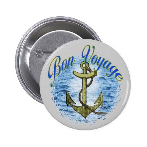 Bon Voyage Pinback Button