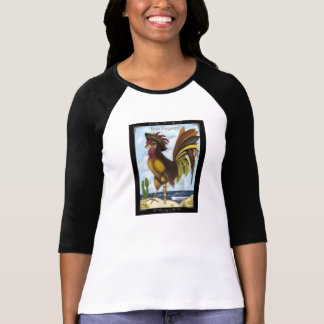 Bon Voyage pirate rooster on island shirt