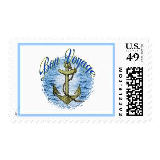 Bon Voyage Postage Stamp