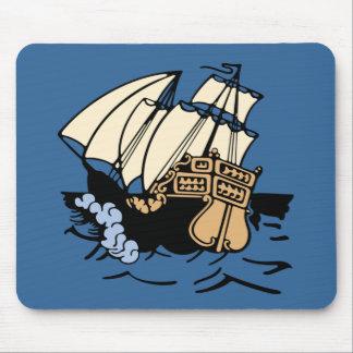 Bon Voyage Ship Mouse Pad
