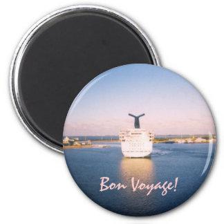 Bon Voyage Stern 2 Inch Round Magnet