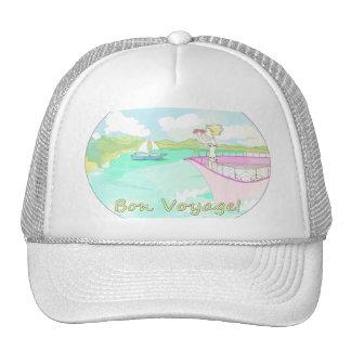 BON VOYAGE travel fun illustrated hat