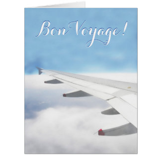 Bon Voyage Travel Over the Clouds Card