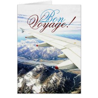 bon voyage travel snow plane template card