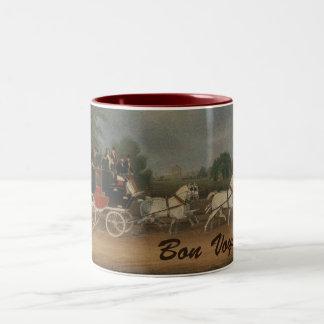 Bon Voyage Two-Tone Coffee Mug