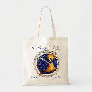 Bon Voyage World Map Costume Jewelry Add Your Text Tote Bag