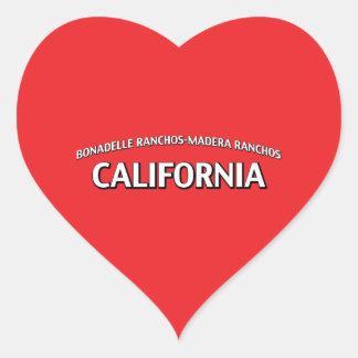 Bonadelle Ranchos-Madera Ranchos California Heart Sticker