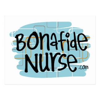 Bonafide Nurse Postcard