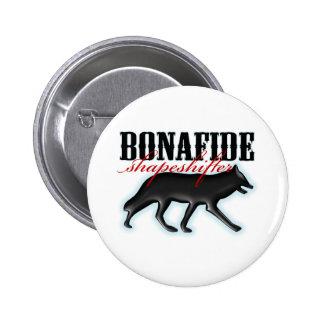 Bonafide Shapeshifter-Wolf 2 Inch Round Button