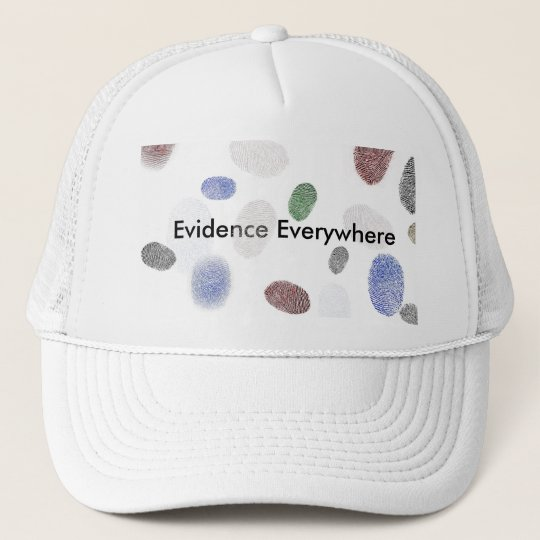 Bonafide Suspect 'Evidence Everywhere' Hat - White