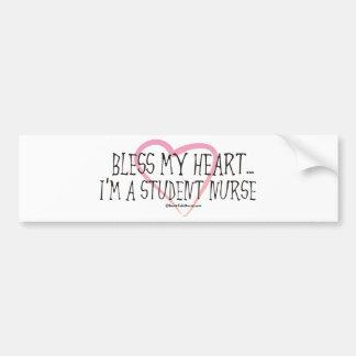 BonafideNurse_-_Bless_my_Heart_I'm_a_student Bumper Sticker