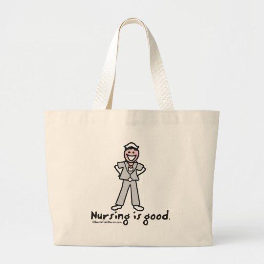 BonafideNurse-_nursing_is_good Large Tote Bag