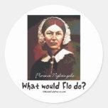BonafideNurse_-_What_would_Flo_do Classic Round Sticker