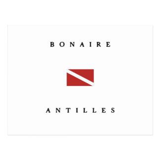 Bonaire Antilles Caribbean Scuba Dive Flag Postcard