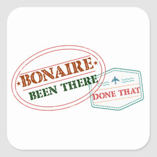 Bonaire Been There Done That Square Sticker