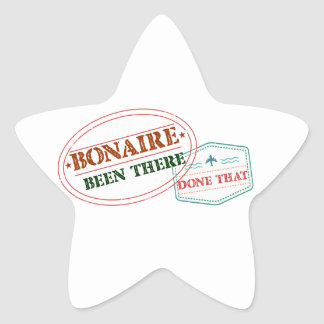 Bonaire Been There Done That Star Sticker