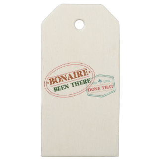 Bonaire Been There Done That Wooden Gift Tags