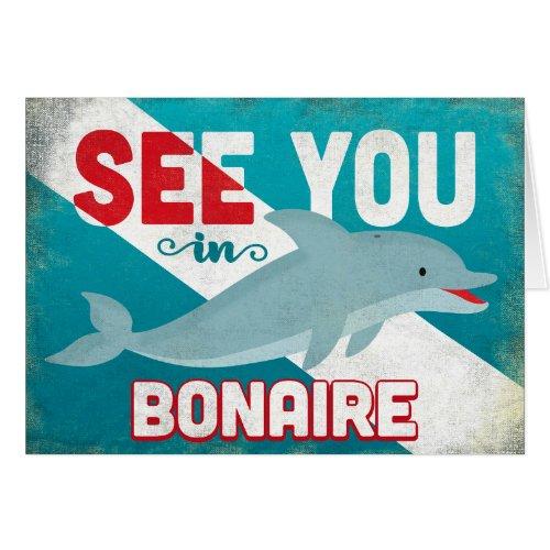 Bonaire Dolphin - Retro Vintage Travel