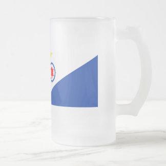 Bonaire Flag Frosted Glass Beer Mug