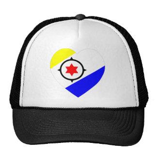 Bonaire Flag Heart Trucker Hat