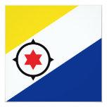 """Bonaire Flag Invitation 5.25"""" Square Invitation Card"""